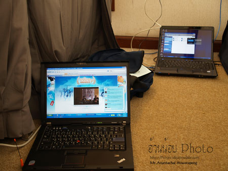 Streamming ผ่านระบบ 3G งาน Tarad Award