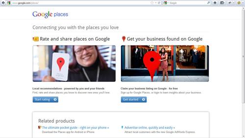 googleplace ประกาศก้องให้ชาวโลกรู้จัก